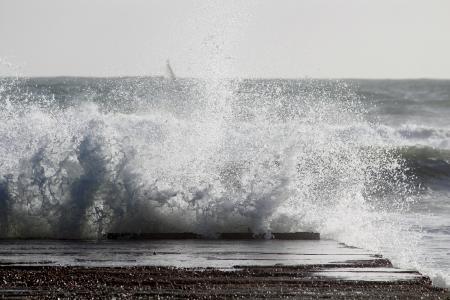 海, 波, 大浪, web, 喷雾, 不安, 海洋
