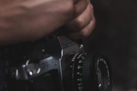 焦点, 特写, 摄影, 电影, 相机, 手, 佳能