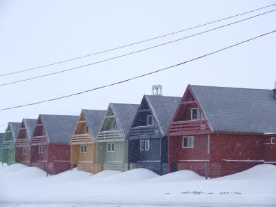 房屋, 例子, 雪, 颜色, 挪威