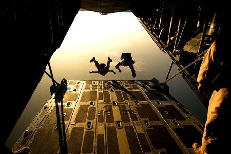 降落伞, 跳伞, 跳伞, 跳跃, 培训, 军事, 救援人员