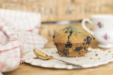 蓝莓, 松饼, 松饼, 蓝莓松饼, 甜点, 食品, 甜