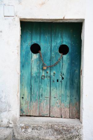 古董, 脏, 门, 入口, 门, 房子, 铁
