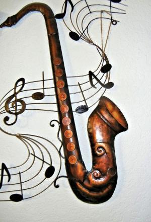 萨克斯管, 金属艺术, 音乐笔记