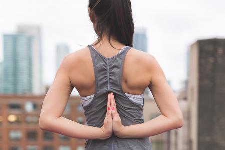 健身, 女孩, 健康, 人, 弛豫, 性感, 伸展运动