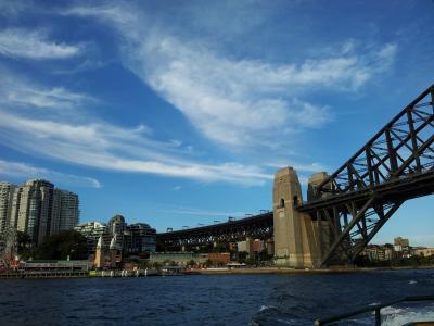 悉尼海港大桥, 天空, 桥梁, 海港, 悉尼, 澳大利亚, 城市