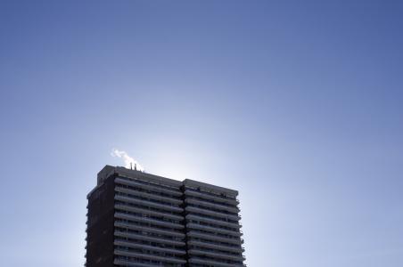 建筑, 蓝色, 建设, 高层, 天空, 摩天大楼, 建筑的结构