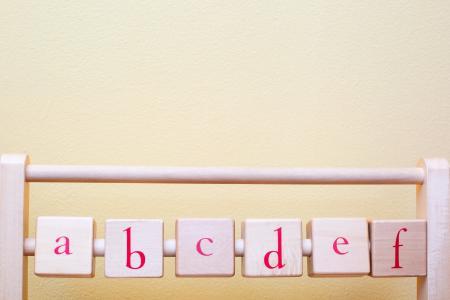 婴儿托儿所装饰字母表