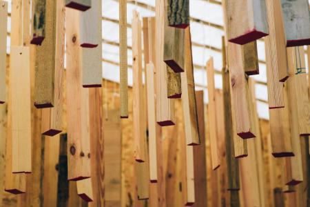 抽象挂木艺术