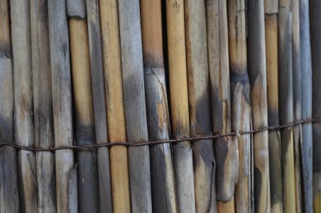 木材, 栅栏, 绑定, 竹, 包浆, 不锈钢, 电线