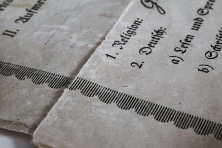 证词, 历史, 1931, 老德国, 旧的文件, 证书