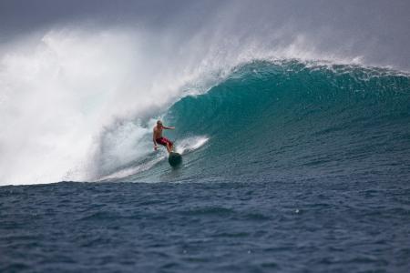 大浪, 冲浪者, 电源, 勇敢, 危险, ombak 口井海岸, 爪哇岛