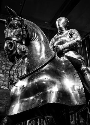 盔甲, 马, 骑士, 中世纪, 士兵, 军事, 骑马